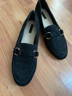 Black mules/ flats
