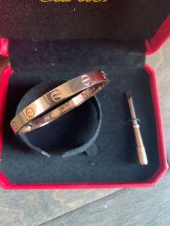 Cartier rose gold love bracelet