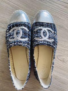 CHANEL 二手編織漁夫鞋