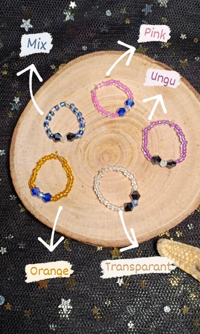 Cincin beads ala Korea lucu 5rb (2cincin)