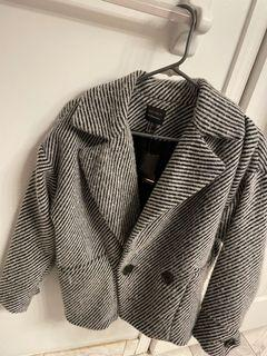 Forever 21 grey stripped coat