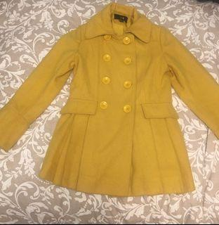Forever 21 Yellow Trench Coat