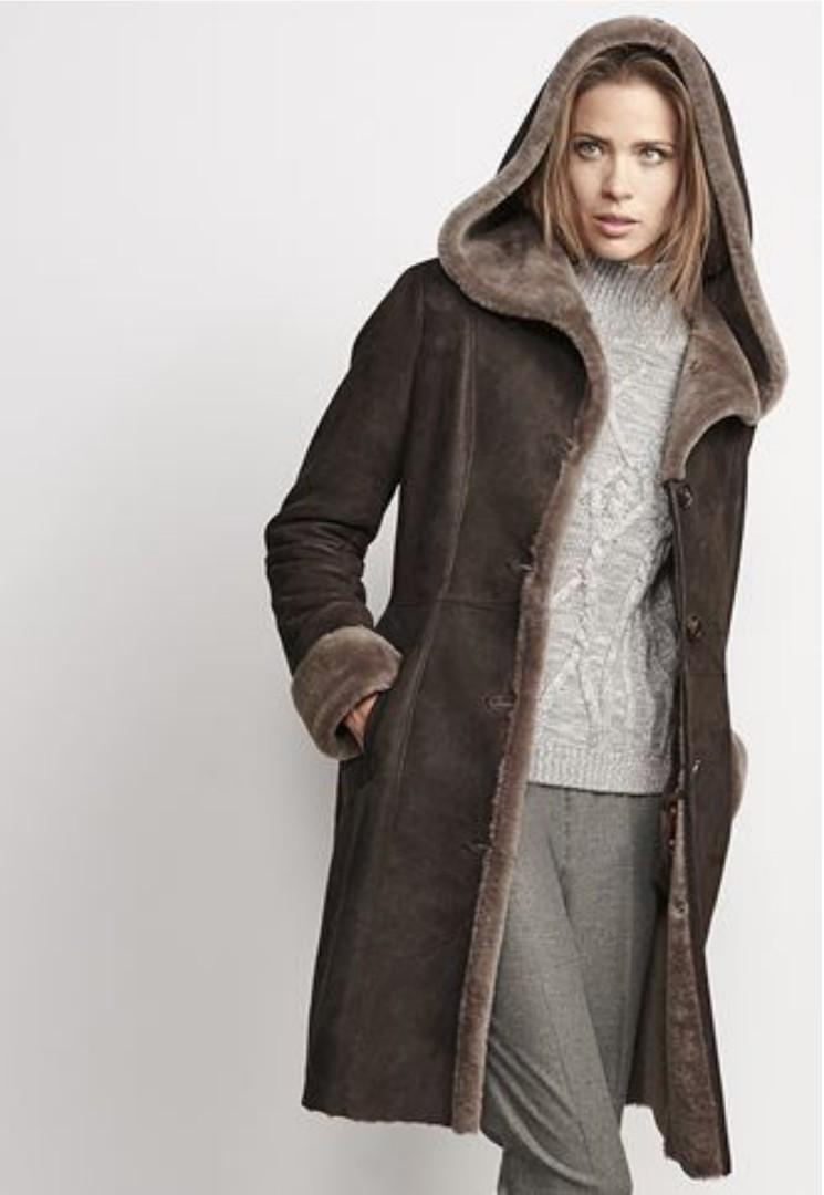 GENUINE SPANISH SHEEPSKIN SHERLING Coat (Size XS-S)