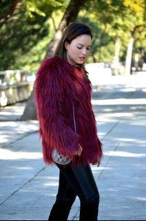 Korean Thick Fur Oversized Coat Jacket
