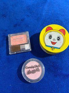 Lot of 3 canmake powder cheeks candy doll blush a'pieu cushion blusher