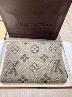 LV 二手針織圍巾 多明星同款