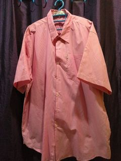 Man short sleeve collar shirt