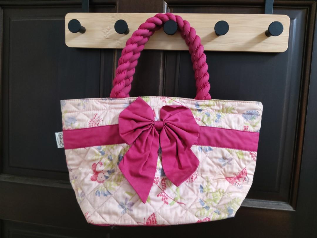 Naraya 曼谷包  粉紅色 手提包  小提袋  便當袋