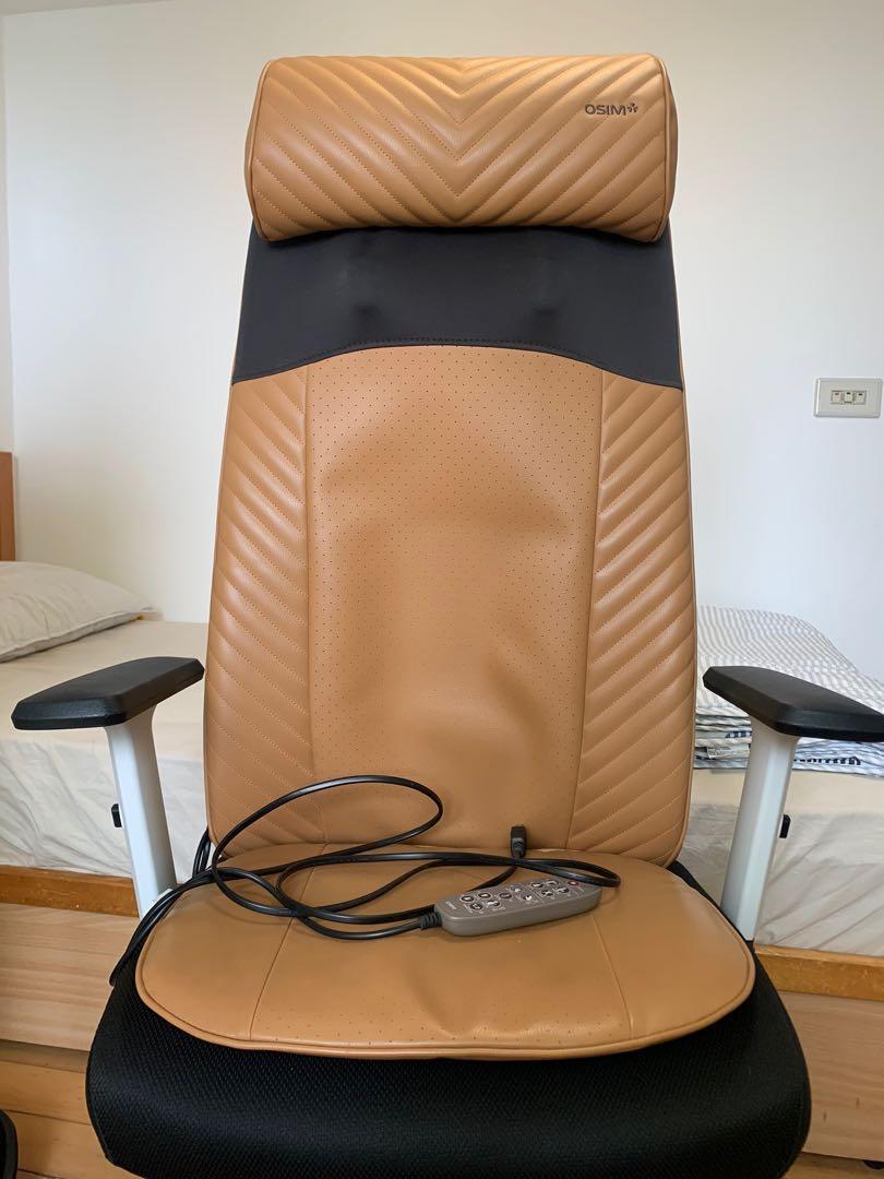 osim 按摩椅墊 (不含電腦椅)超搶手焦糖色 已過保 可面交