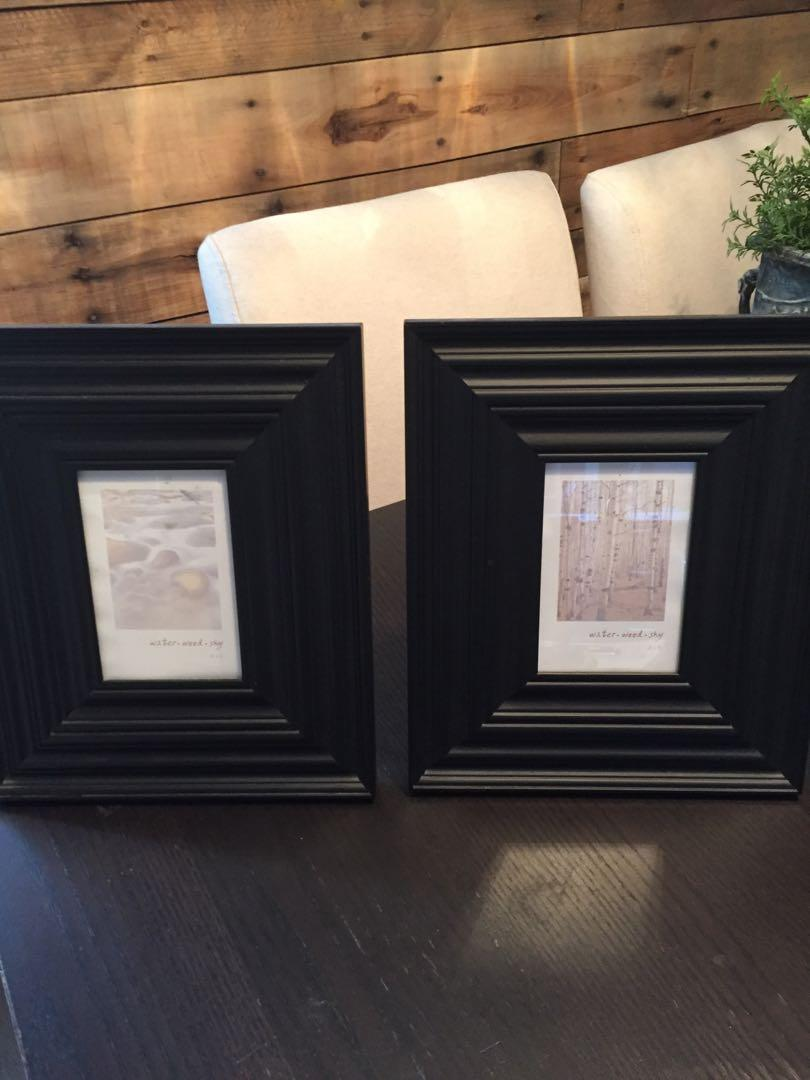 Pair of black picture frames