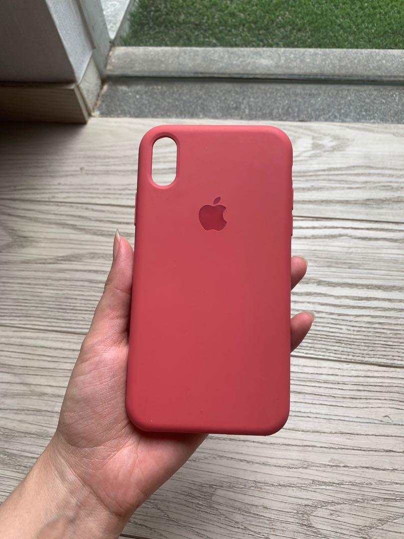 pink silicone iphone xr