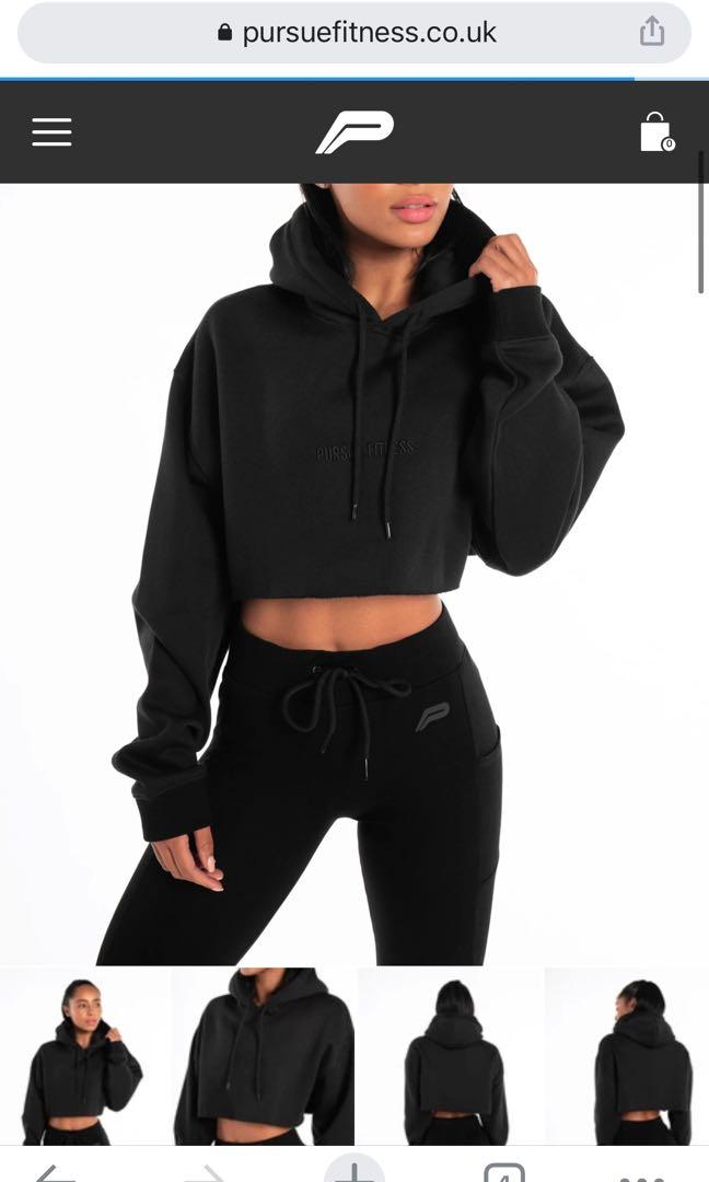 Pursue fitness crop hoodies