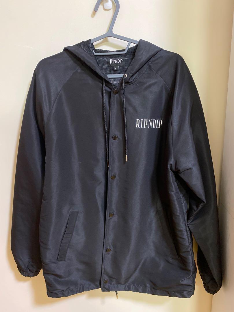 Ripndip lights out Nylon Coach Jacket 中指貓 外套 長版