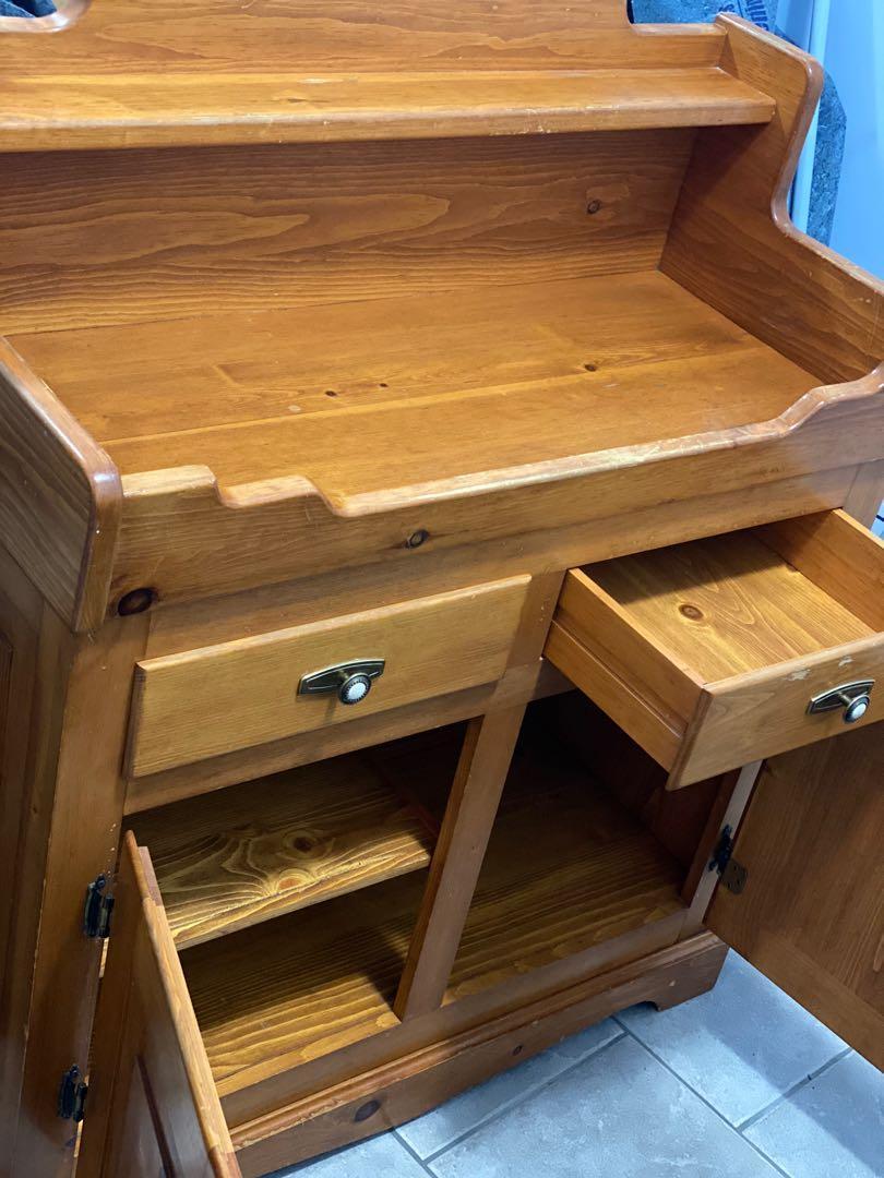 SALE: Rustic Style - vintage solid pine kitchen / work station