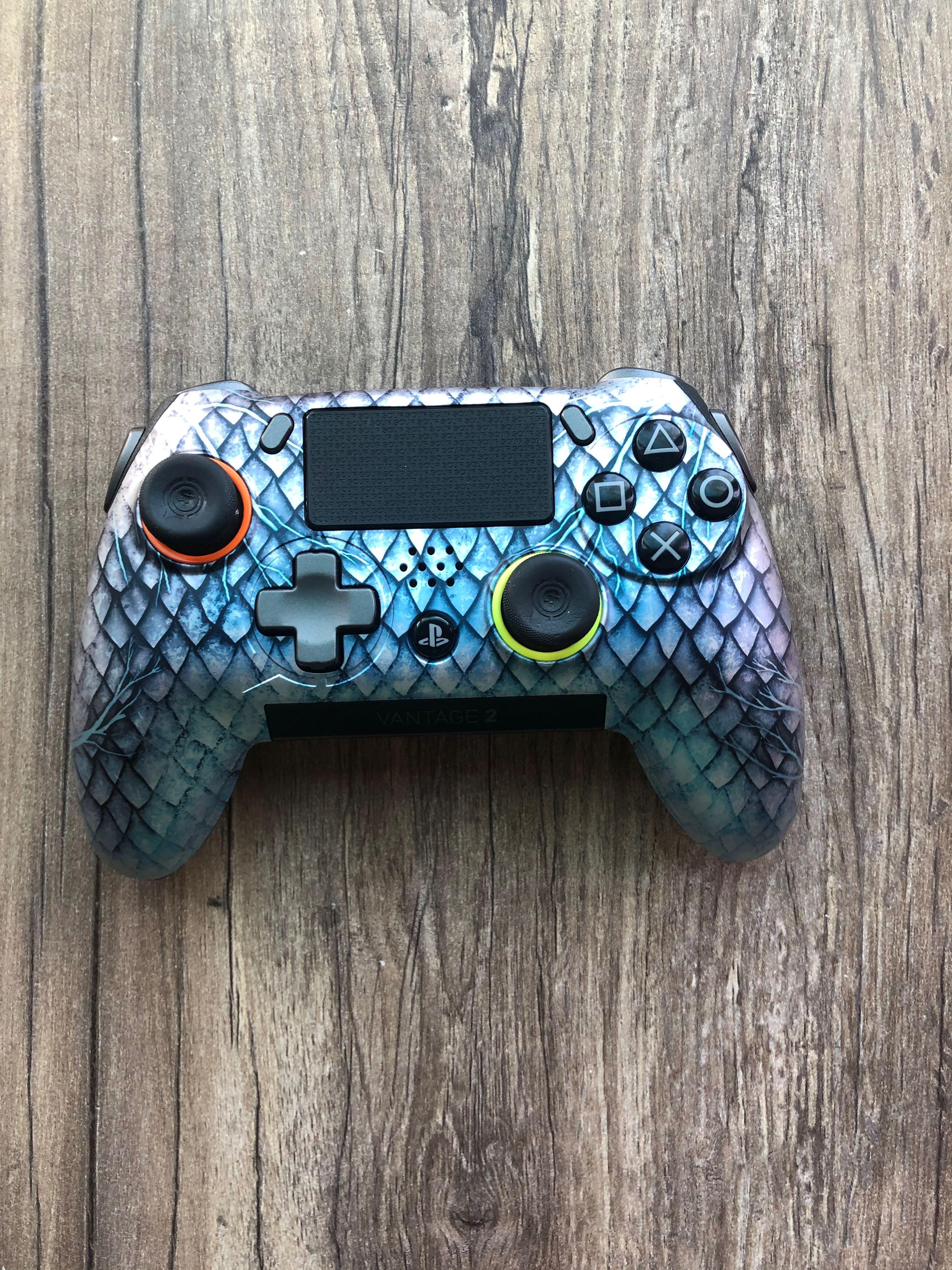 Scuf Vantage 2 Blue Dragon-PS4 controller