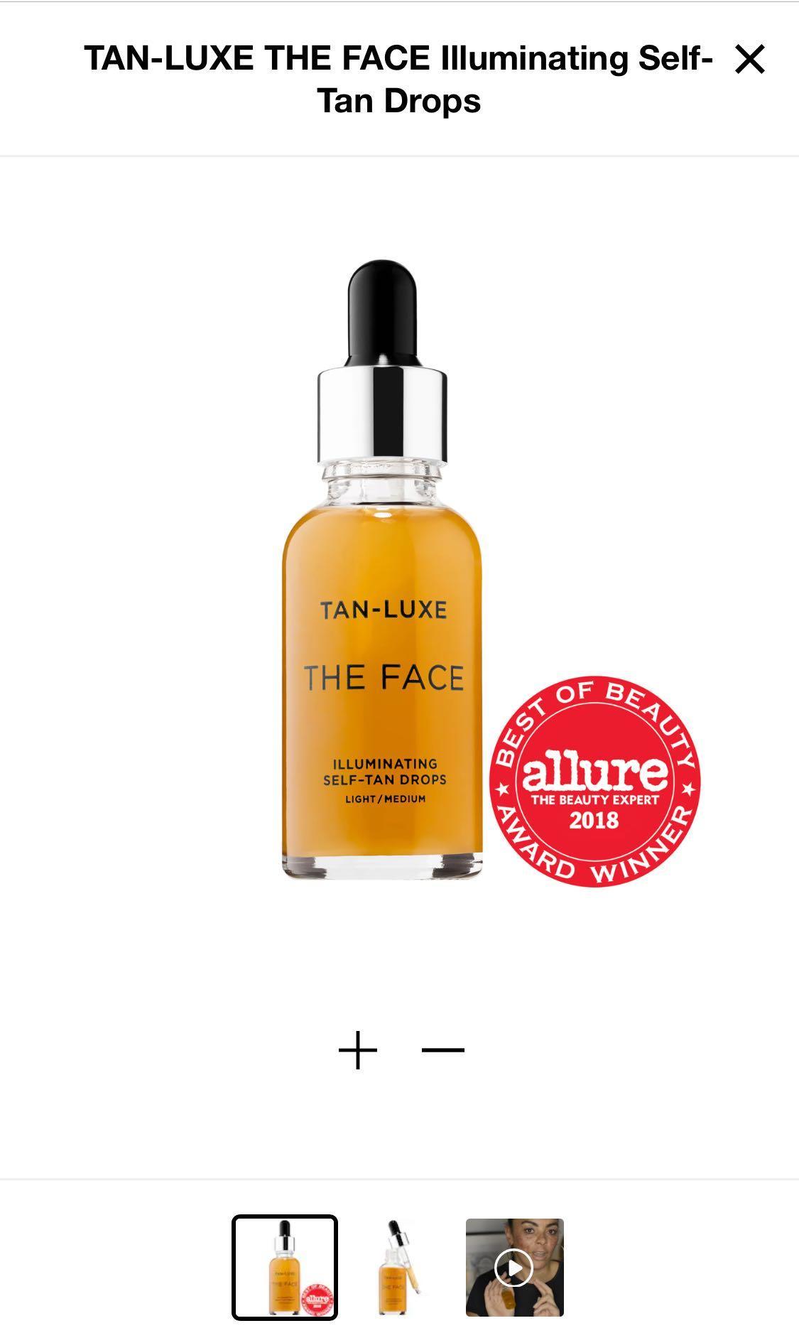Tan lux self tanning drops - light/medium shade