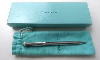 Tiffany 銀 原子筆 T logo