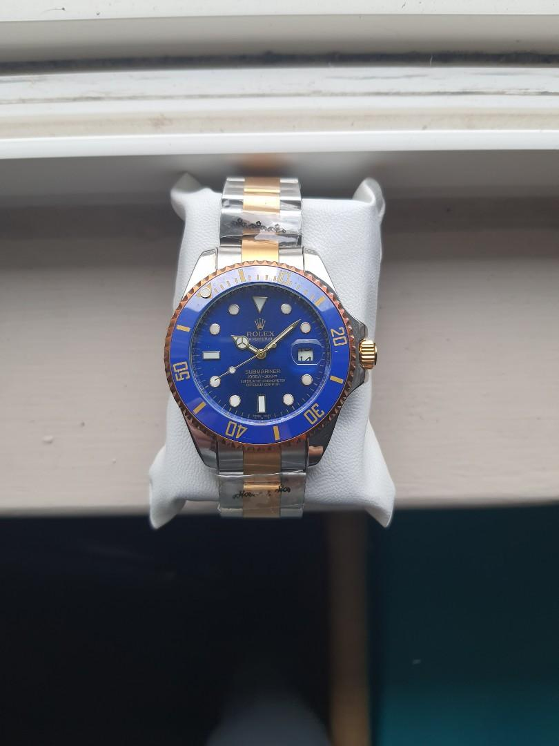 TWO TONE BLUE DIAL SUBMARINER WATCH FOR MEN