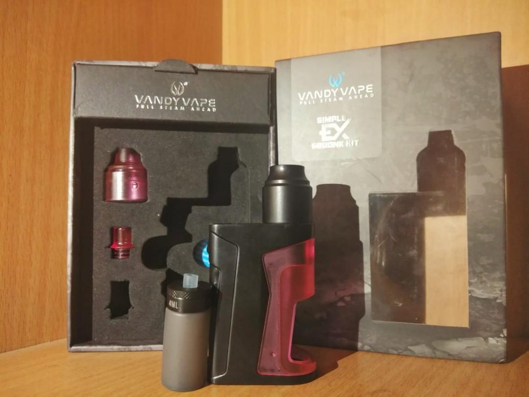 Mod Vapor vandy Vape Ex simple squonk kit