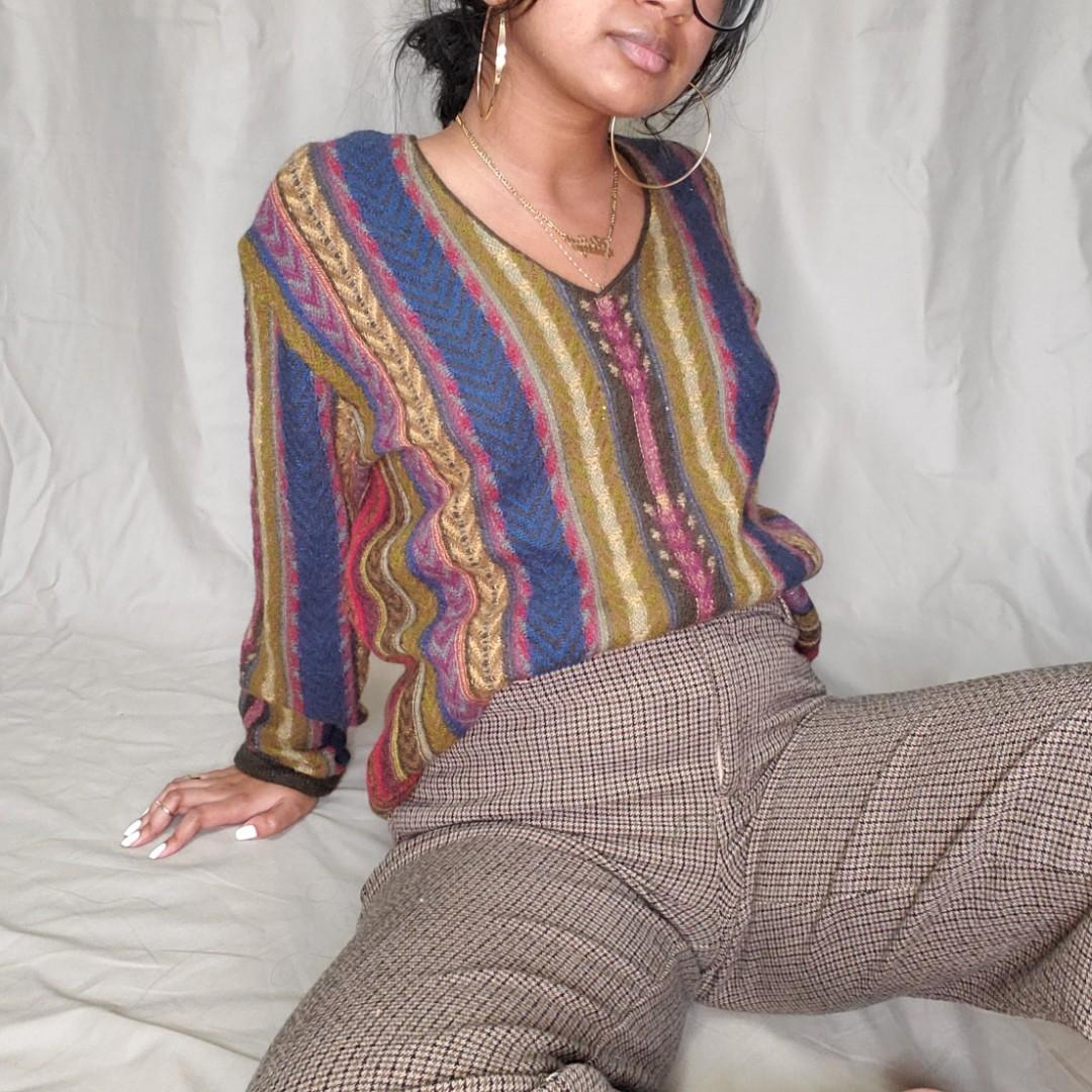 Vintage striped knitted sweater
