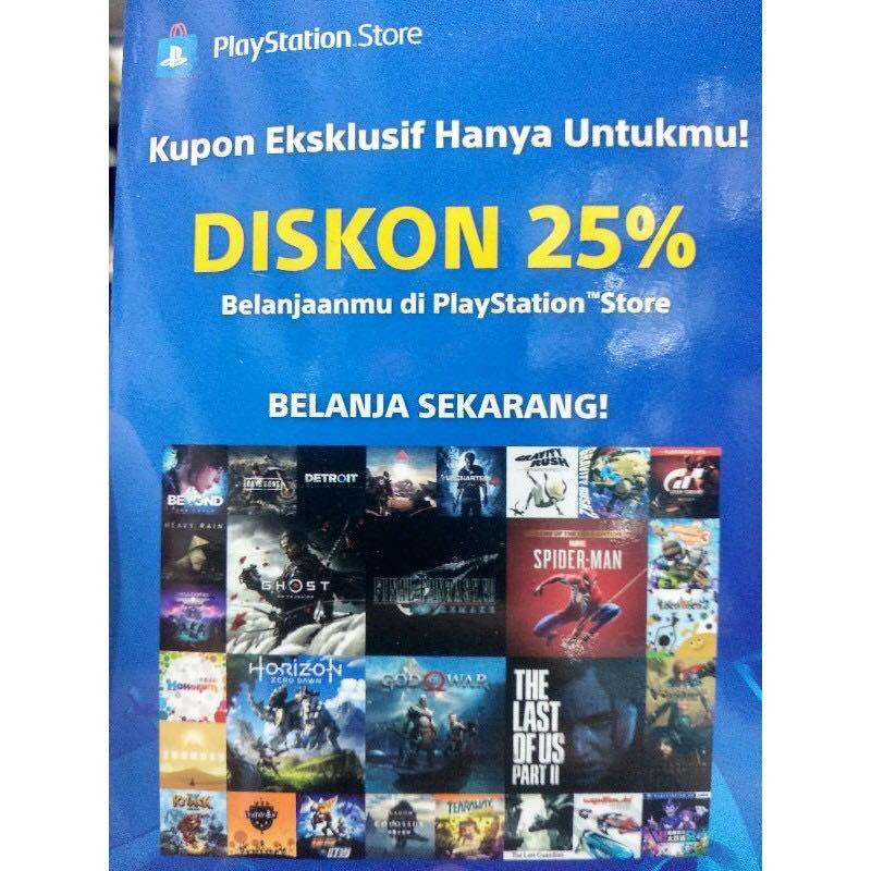 VOUCHER DISKON 25% PLAYSTATION STORE