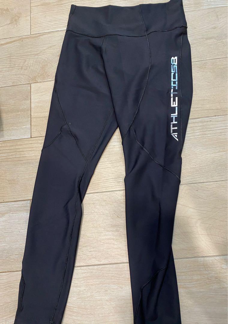 運動壓力褲/黑xs