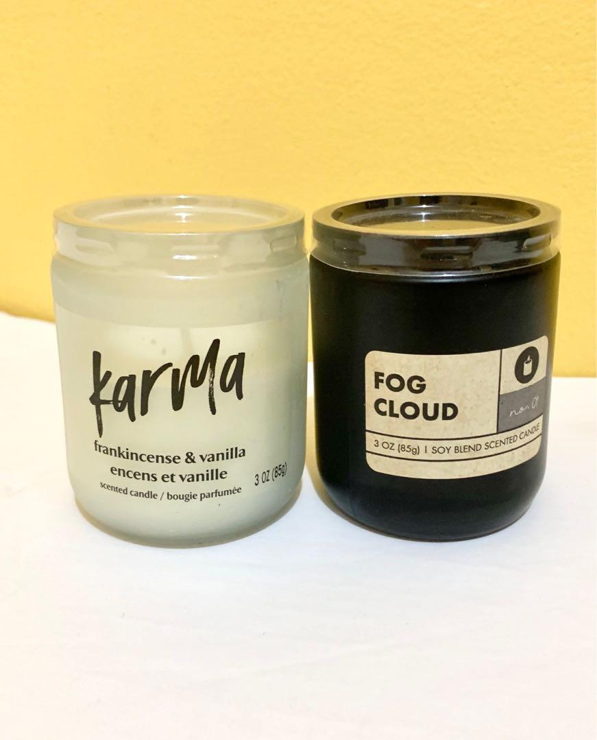2 soy based scented candles