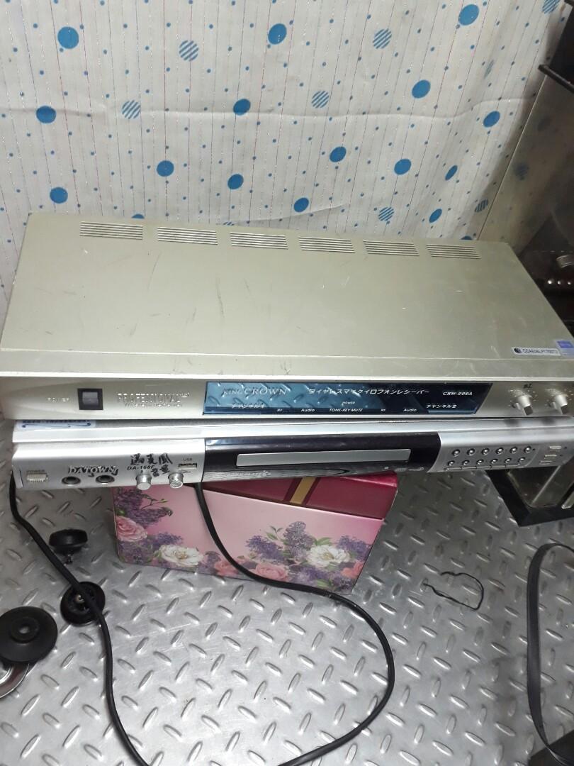 大唐伴唱機+麥克風接收器(很少用)可正常使用