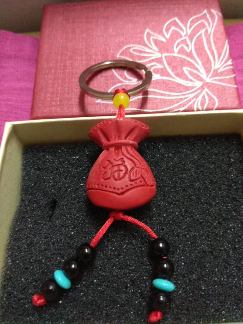 紅硃砂(福袋)吊飾