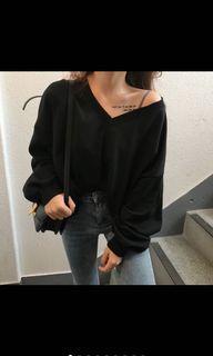 黑色泡泡長袖