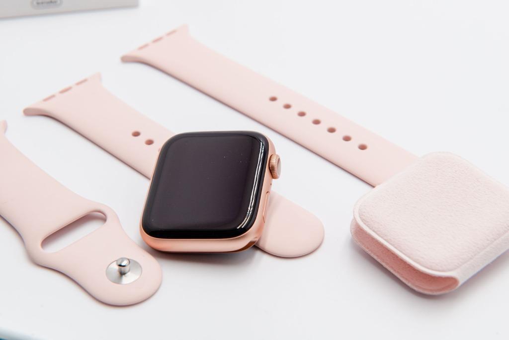 完整盒裝 保存如新 2020 apple watch S5 44MM GPS 玫瑰金 A2093 保固內