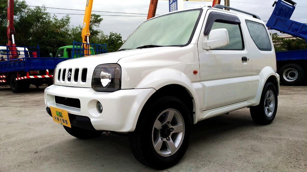 認證車 一手車 9成原漆 4WD 2005年 1.3 白色 Jimny 實跑11.4萬公里 ABS 雙安 黑內裝
