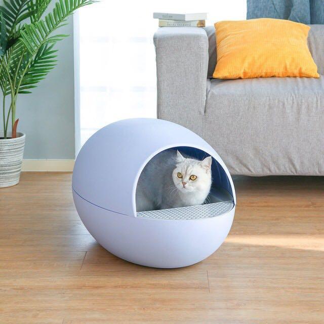 喵蛋智能自動貓砂機 全新 夢想藍