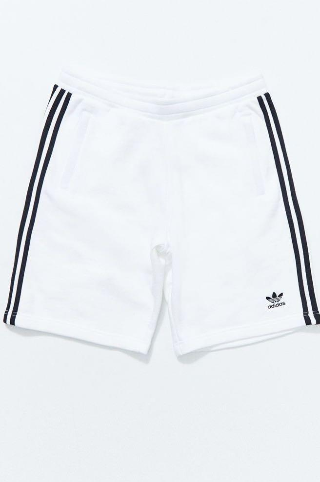 Adidas White Cotton Shorts