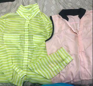 All blouses $2 each
