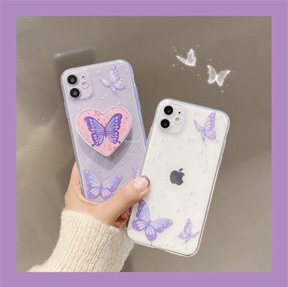 Butterfly Case + Popsocket Iphone X