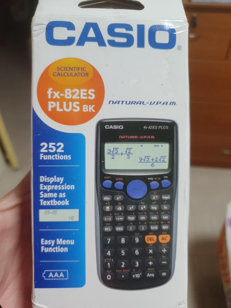 Casio Scientific Calculator Fx 82es Plus Bk Electronics Others On Carousell