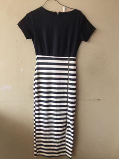 Dress stripe FREE ONGKIR