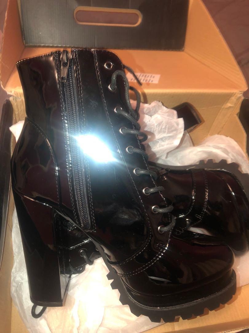 Fashion Nova combat boots size 7.5