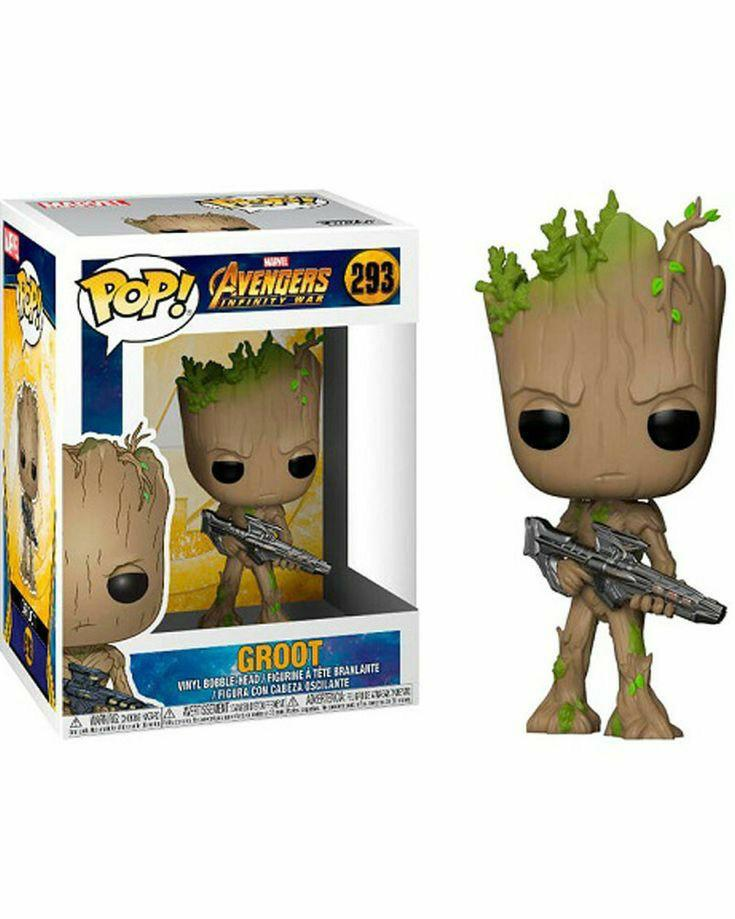 Funko POP! Marvel Avengers Infinity War Groot with Gun