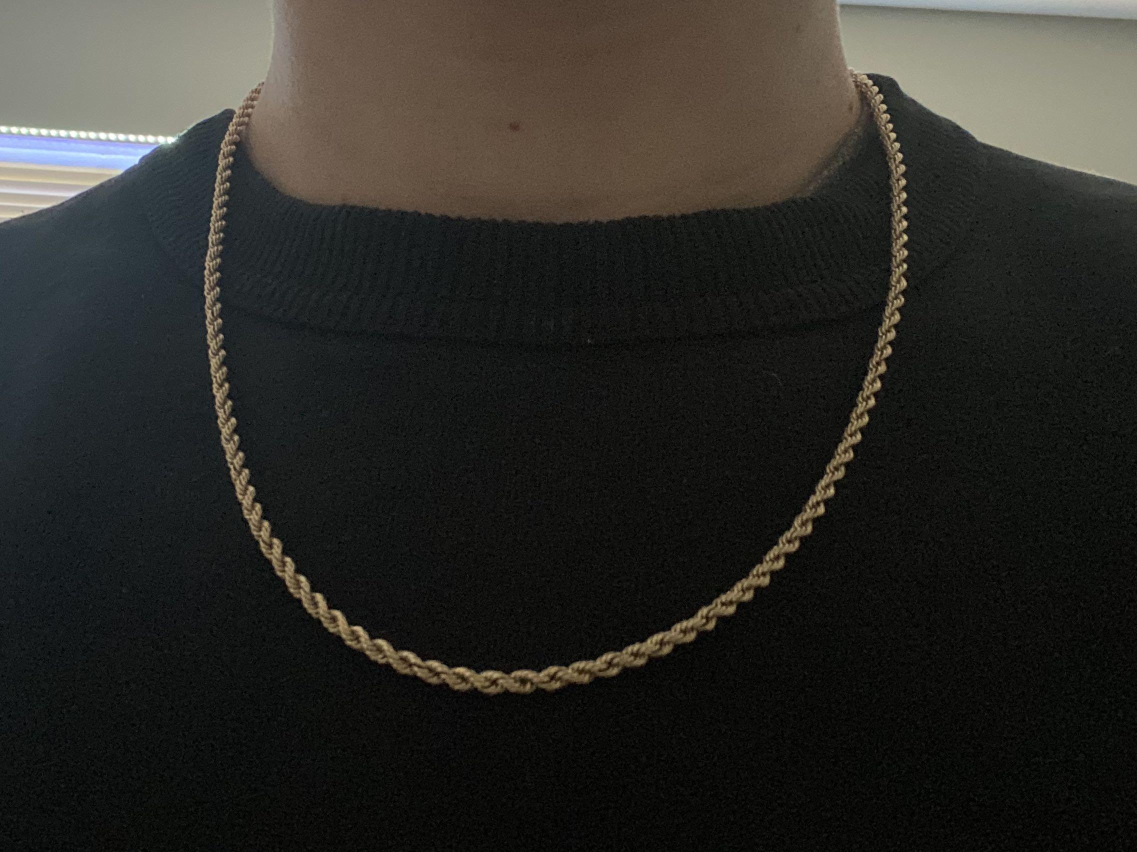 Gold 10kt Men's Rope Chain