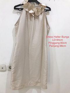 Halter Dress Bunga