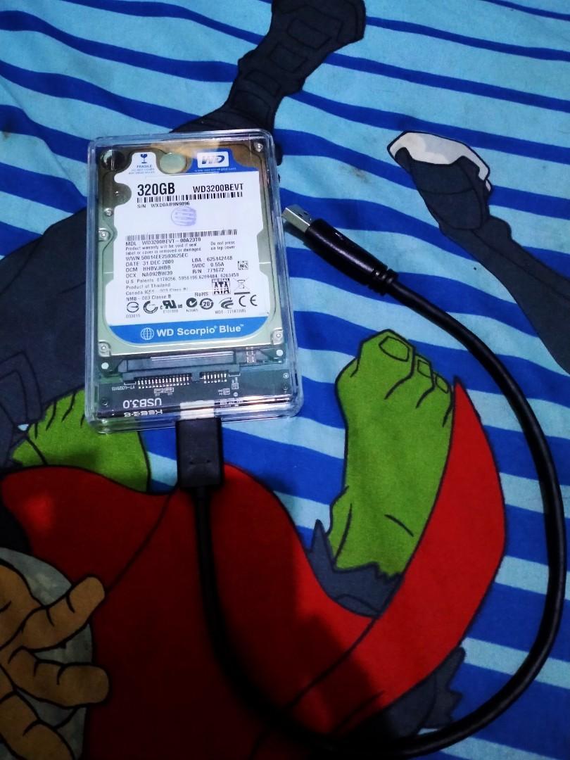 Hardisk eksternal WD 320 GB