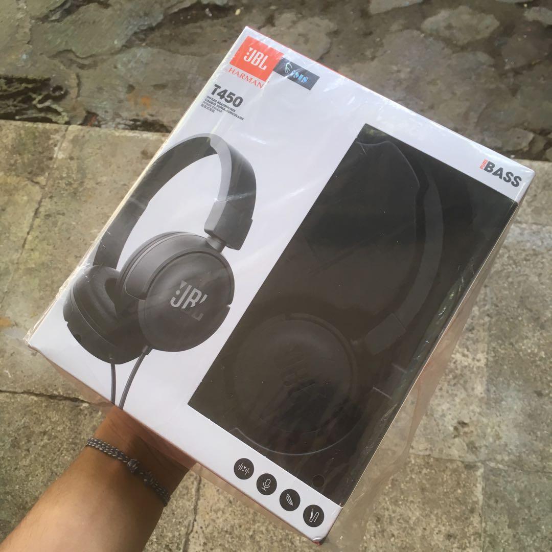 Headphone/headset/earphone JBL T450 brand new black original garansi murah