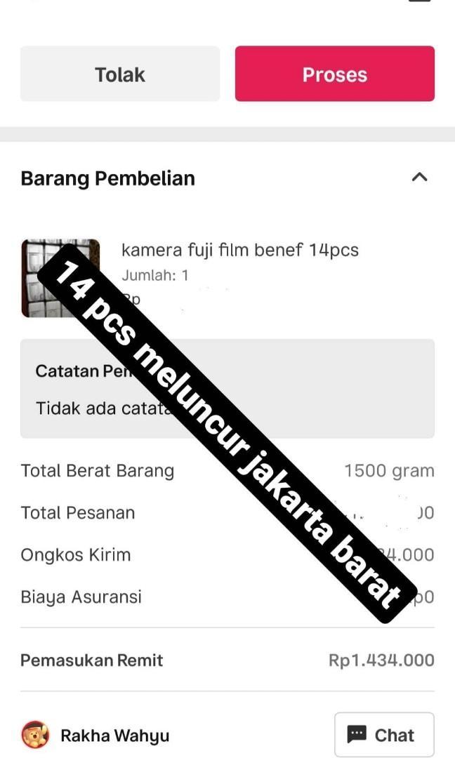 Kamera benef sold 15 pcs