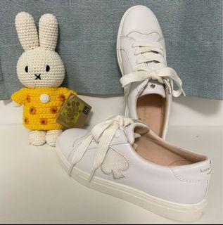 Kate spade  全皮桃心logo小白鞋6  36.5