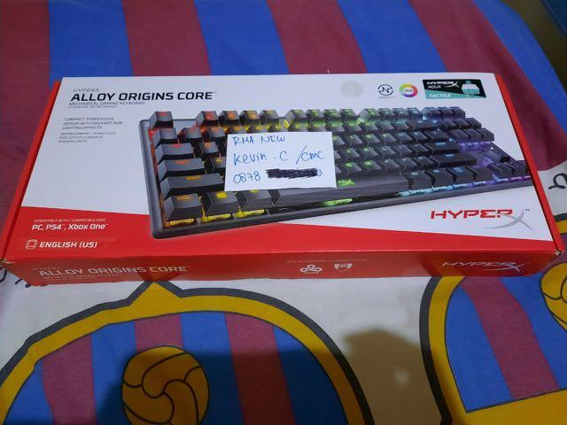 Keyboard Hyper X allow origins cor tkl aqua switch