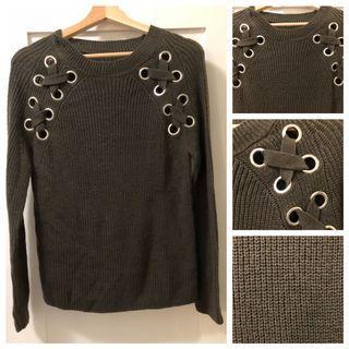 Khaki Green Knit Sweater