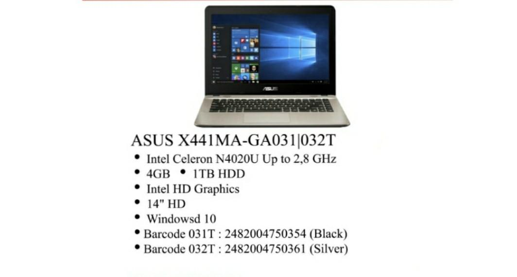 Laptop Asus X441MA-GA031/032T Bisa Kredit Tanpa Kartu Kredit