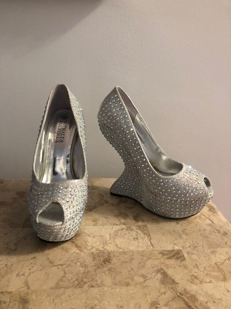 Sz 8 New sparkly heels